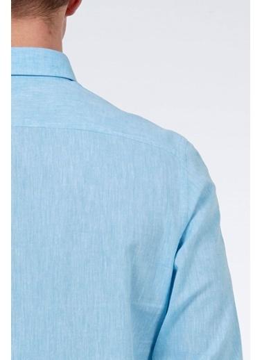 Hemington Uzun Kollu Gömlek Mavi